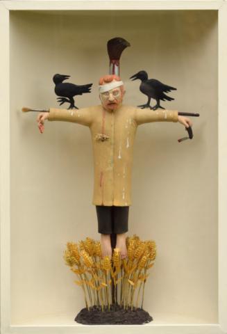 terracotta sculptuur mixed media Frank Maieu