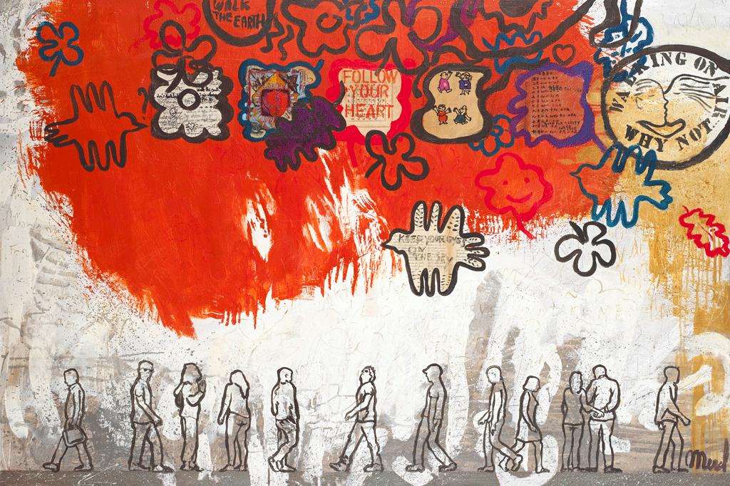 schilderij Merel