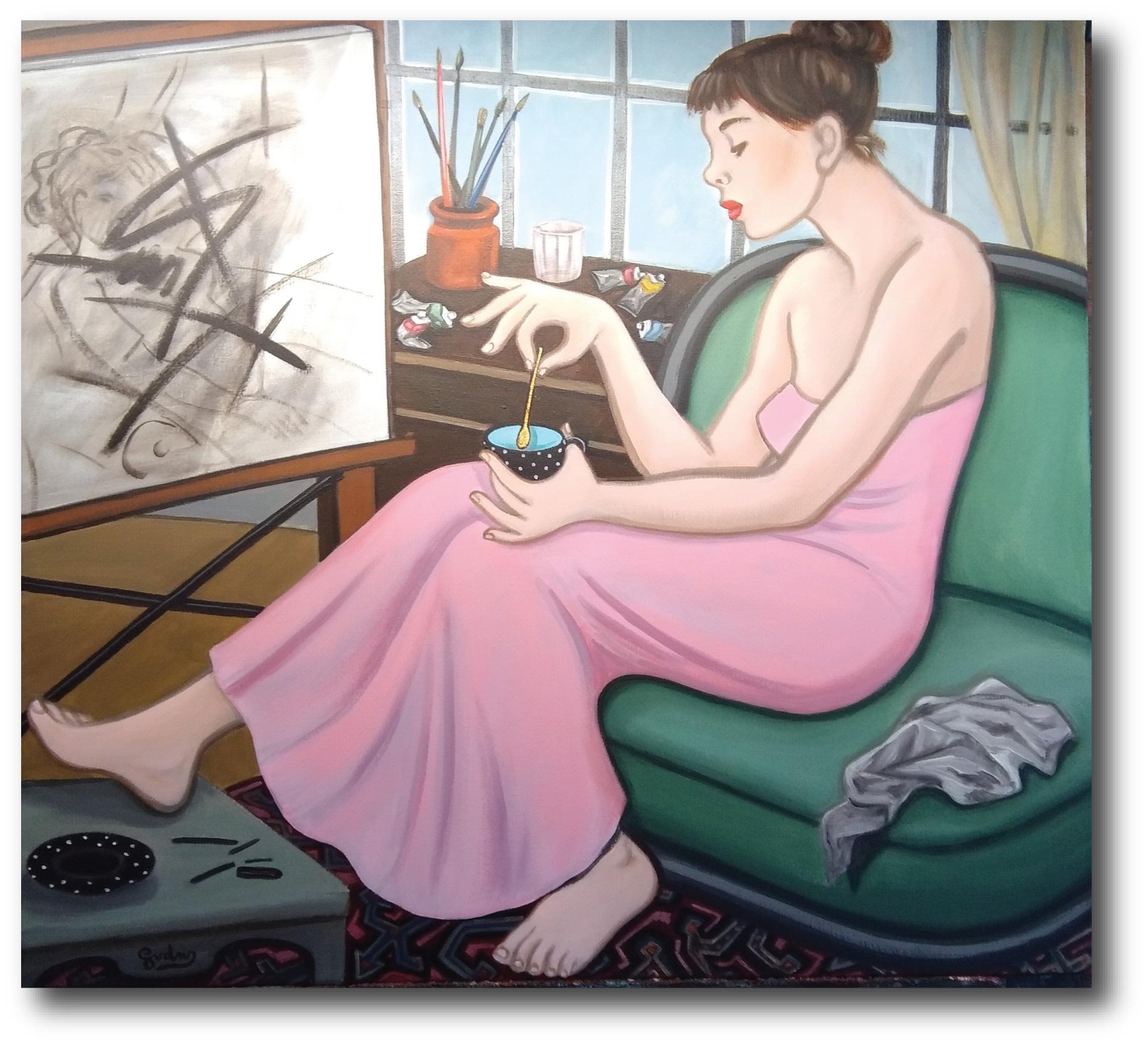 schilderij Genevieve Van Der Wielen